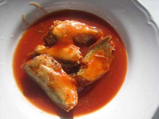 Canned Mackerel in Tomato Sauce, Vegetable Oil, Brine