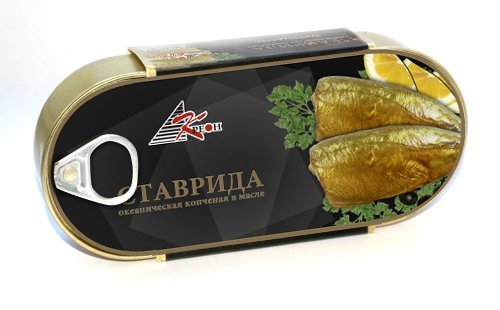 Canned smoked horse mackerel in oil