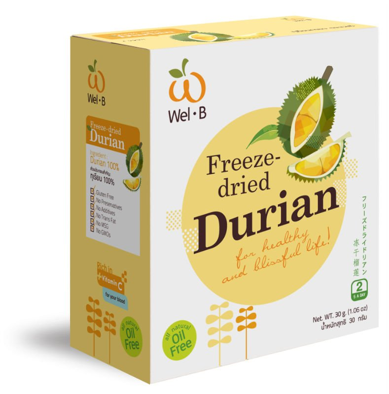 Freeze-dried durian