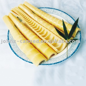 bamboo shoot in half cut