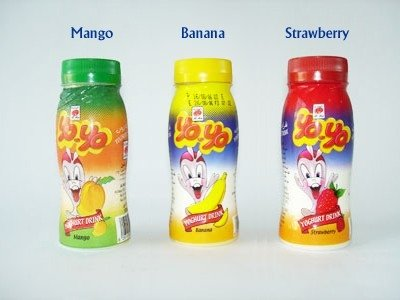 Yogurt Drink Logo Yoyo Drinking Yoghurt