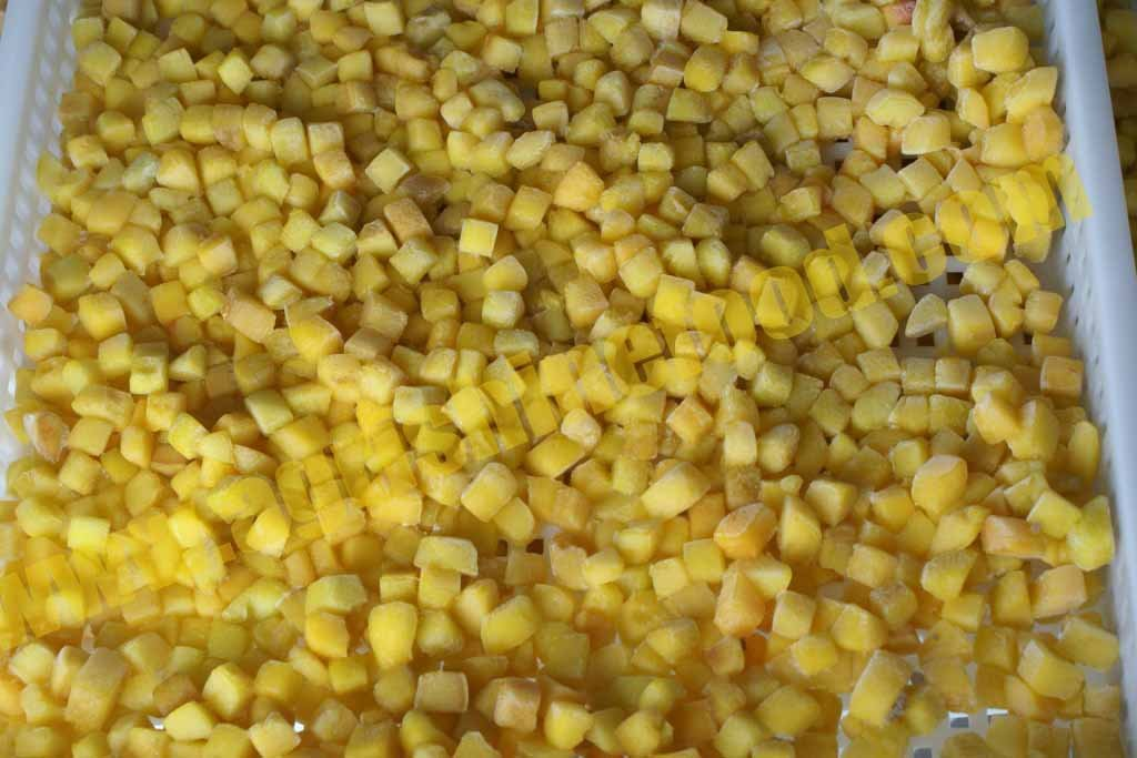 Frozen/IQF Yellow Peach Diced
