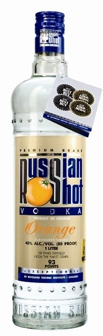 Russian Shot Orange flavoured vodka
