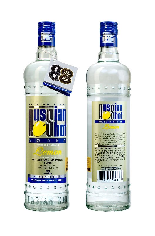 Russian Shot Lemon flavoured vodka