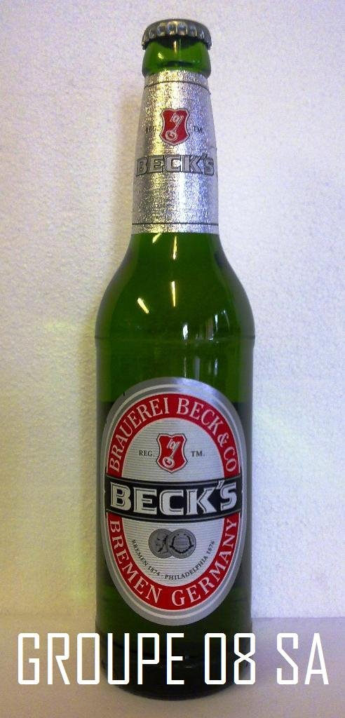 Becks Beer 50cl. Returnable Glass bottles / Origin: Germany.