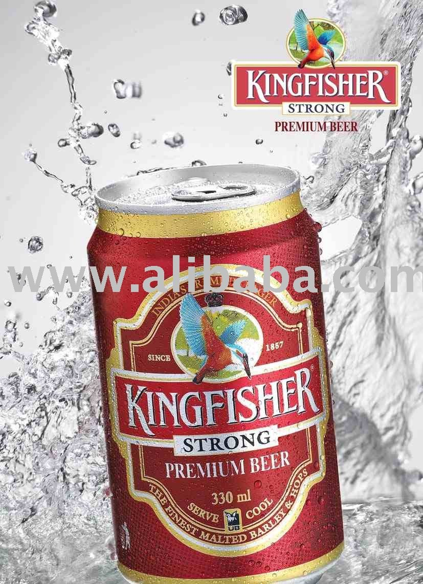Kingfisher Strong Premium Beer 330 Ml Can Products India Kingfisher