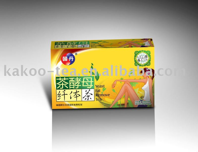 Yeast fat removal tea