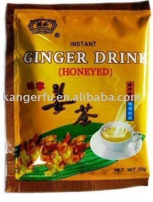 Instant honeyed ginger drink