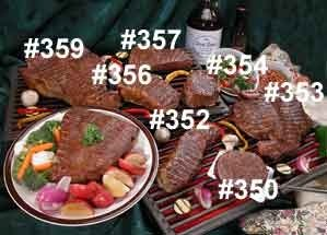 #352 Buffalo Strip Steaks 2- 8oz - meat Patties