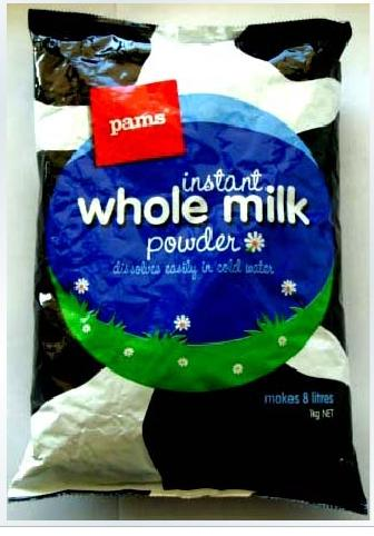 Pams whole Milk: NZ$22/bag to mainland CHINA door to door (no other cost)