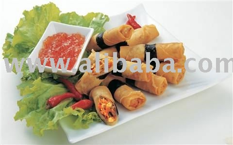spring roll,samosa,money bag,dim sum