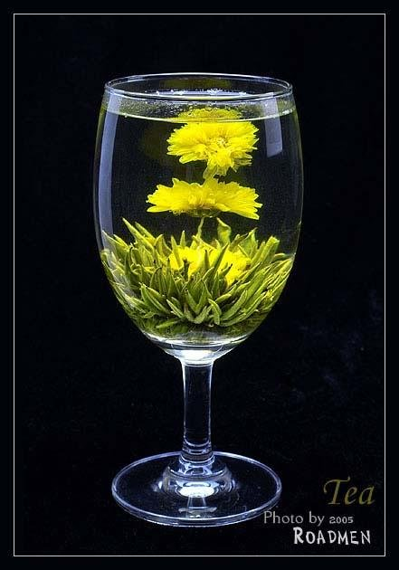 Bu Bu Gao Sheng(Green Blooming Tea)