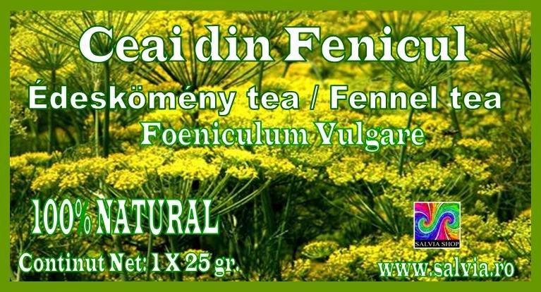 Fennel tea, Ceai din fenicul, Edeskomeny tea, Foeniculum Vulgare