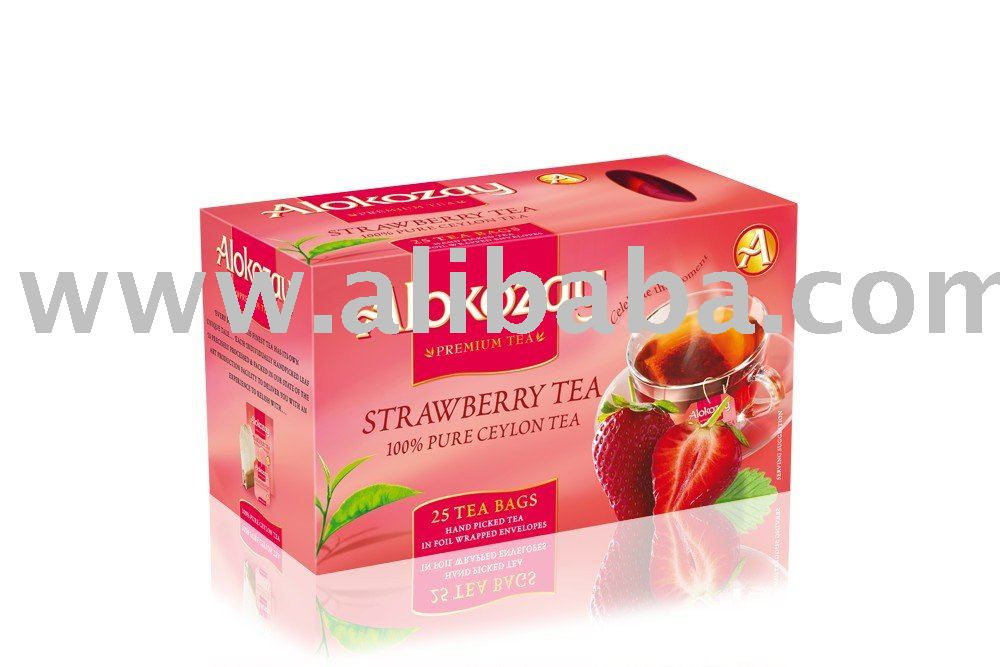 Black Tea with strawberry flavor