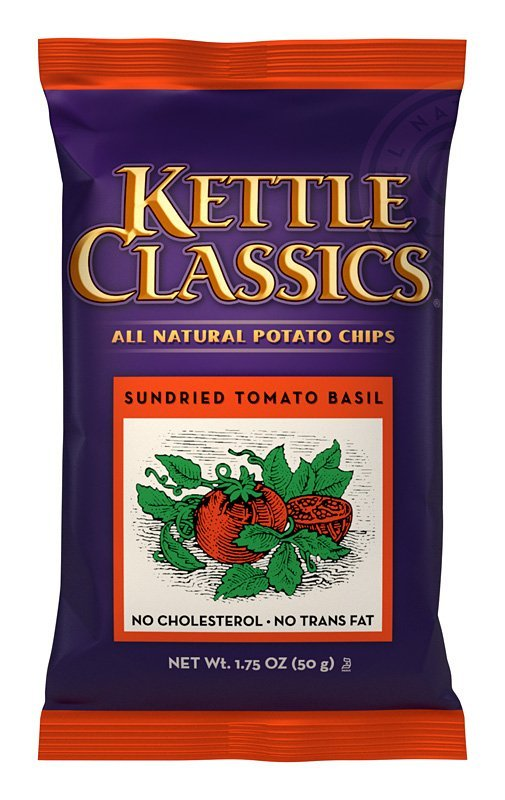 Kettle Classics (r) All Natural Potato Chips - Sundried Tomato Basil