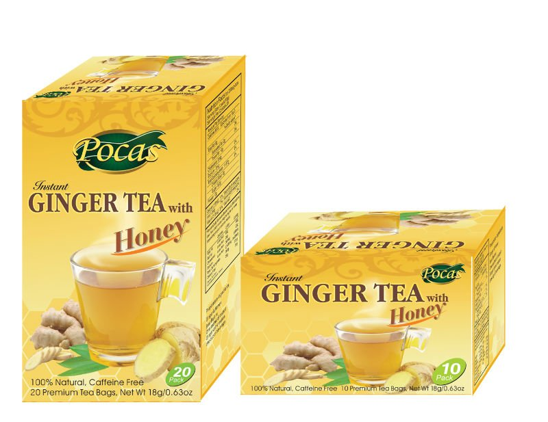 Pocas Instant Ginger Tea 100% Natural