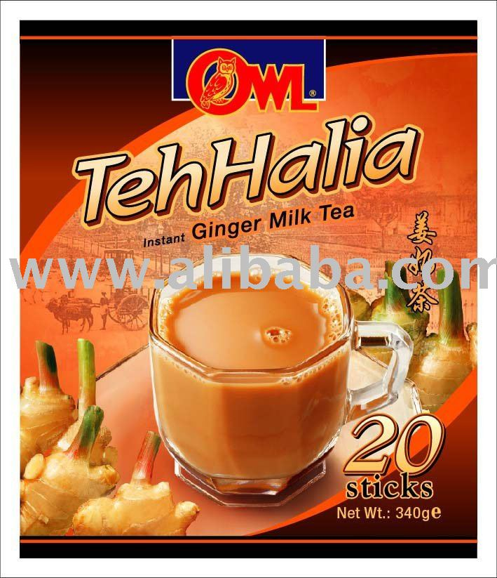 Owl Teh Halia ( Owl Ginger Milk Tea )