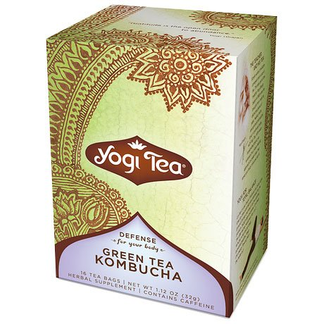 Green Tea Kombucha With Chinese Herbs 16 Bags From Yogi Products United States