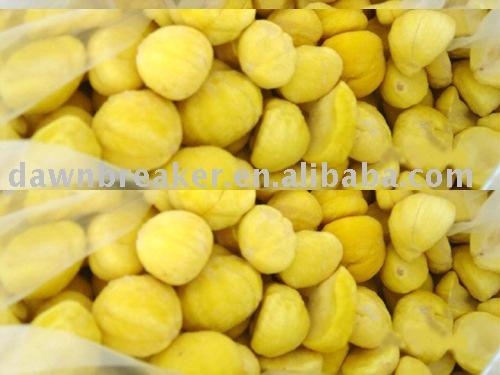 Frozen peeled chestnut (IQF chestnut kernel/ chestnut supplier )