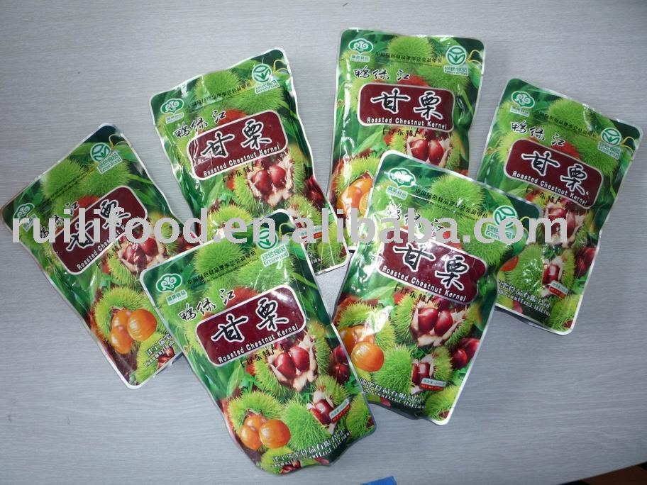 chinese chestnut in soft package , peeled chestnut