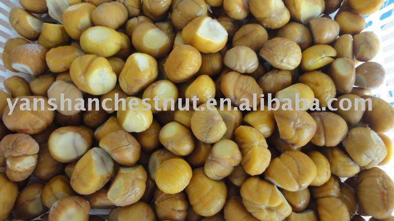 Organic frozen B-Grade chestnut kernel (IQF)