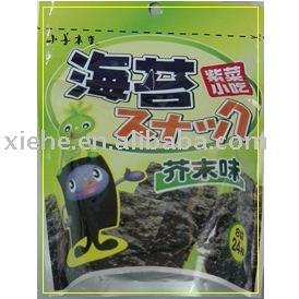 snack (seaweed,roasted seaweed, seasoned seaweed)