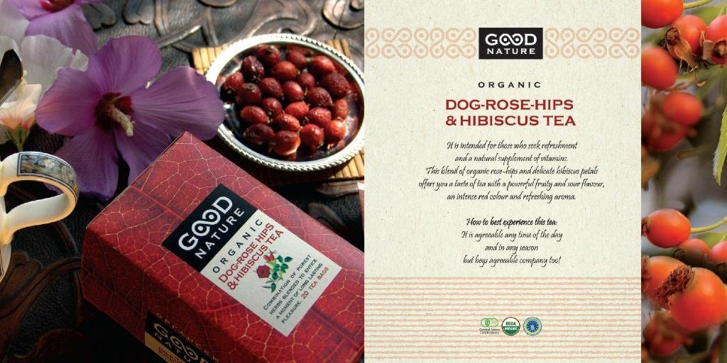 Organic Tea Good Nature - Dug Rose Hips & Hibiscus