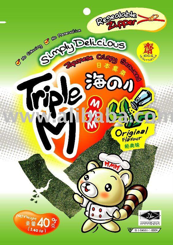 Triple M Japanese Crispy Seaweed - Original Flavor