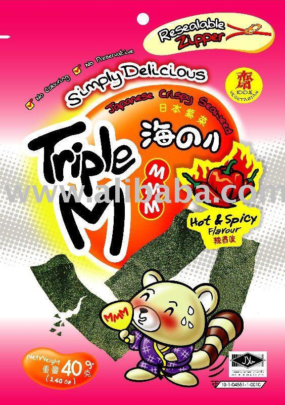 Triple M Japanese Crispy Seaweed - Hot   Spicy Flavor