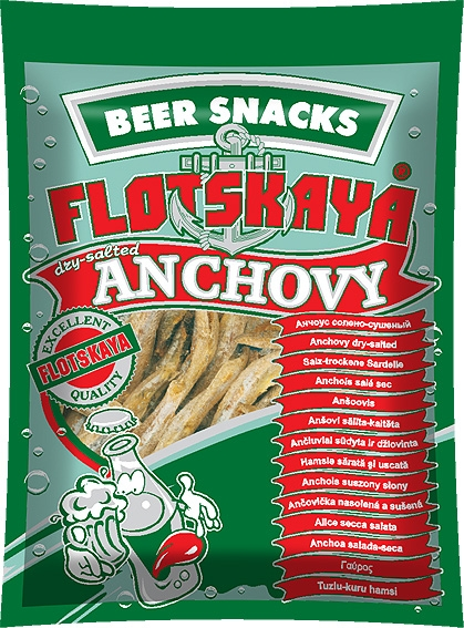 Anchovy dry-salted snack