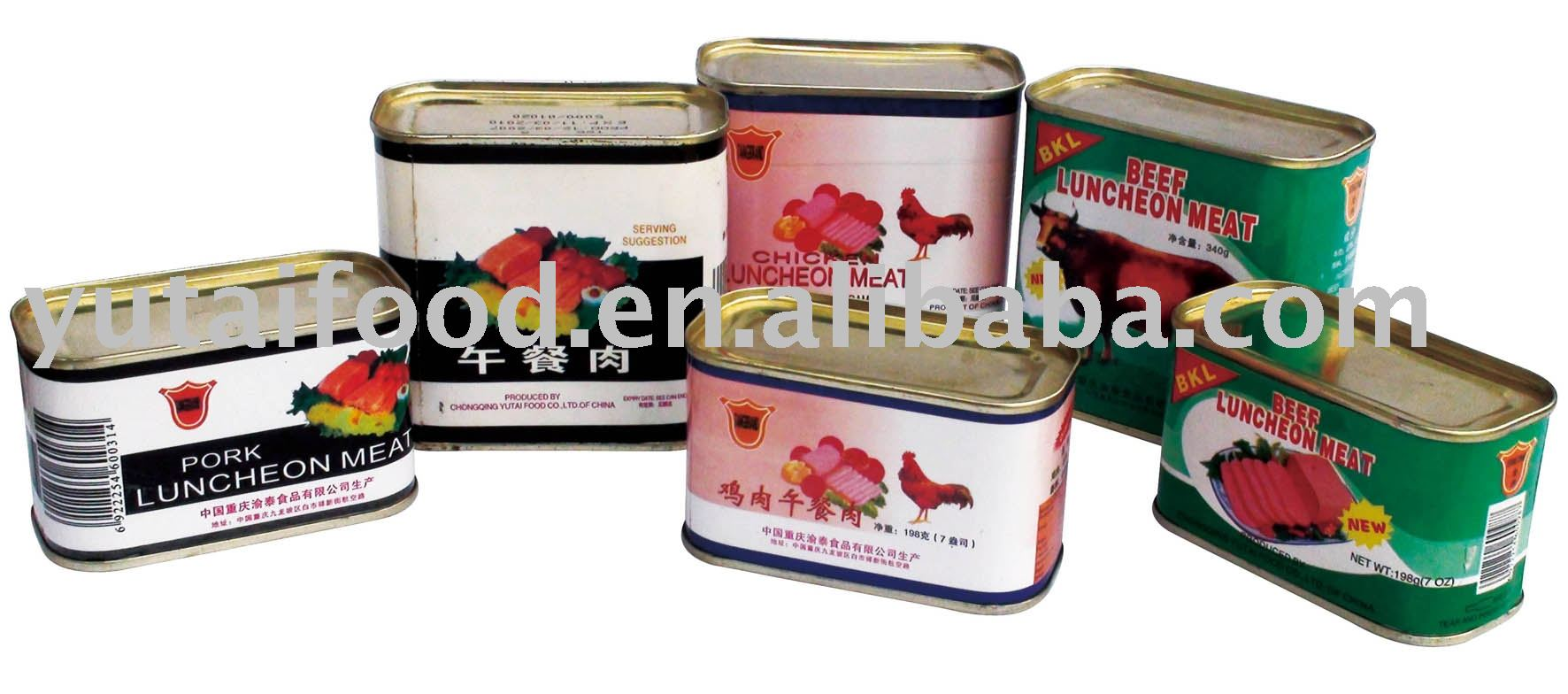 Canned Food / Pork Luncheon Meat, Beef Luncheon Meat, Chicken Luncheon Meat