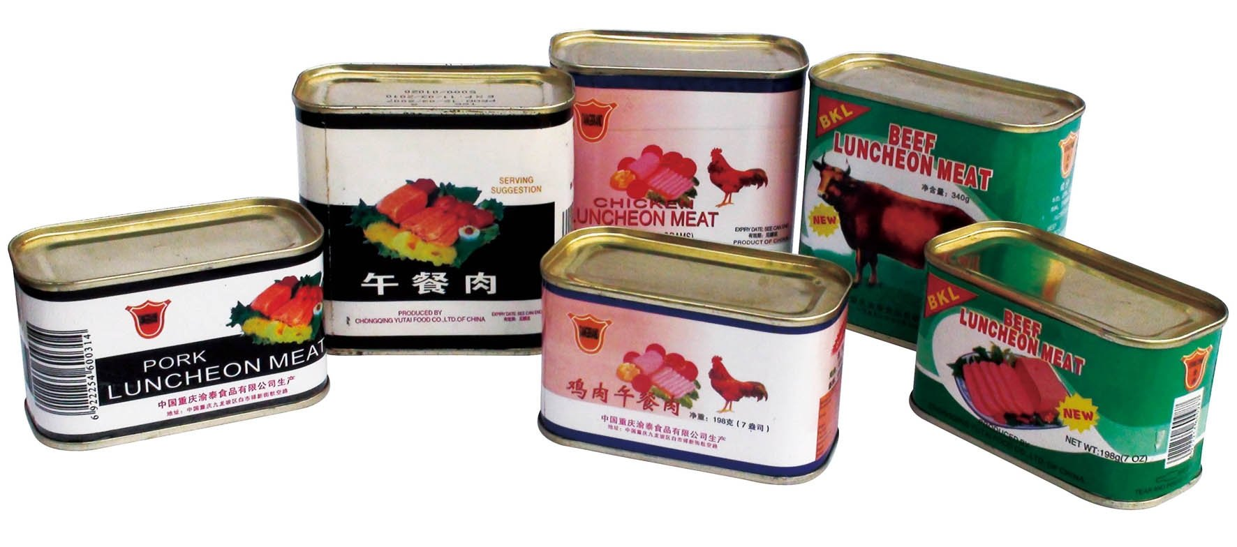 Foodstuff: Pork Luncheon Meat, Beef Luncheon Meat, Chicken Luncheon Meat