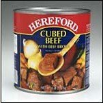 Hereford Cubed  Beef  with  Beef   Broth  (6 lbs.)