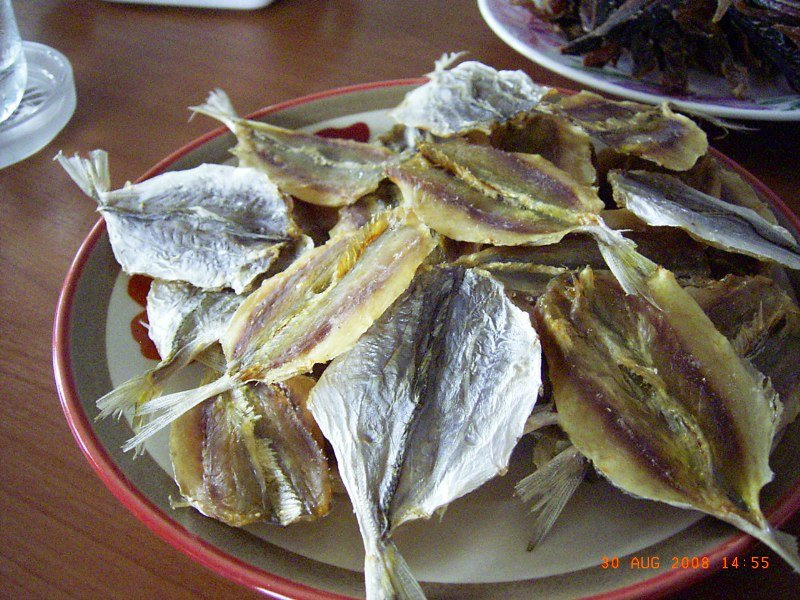 Dried fish (yellow stripe trevally)