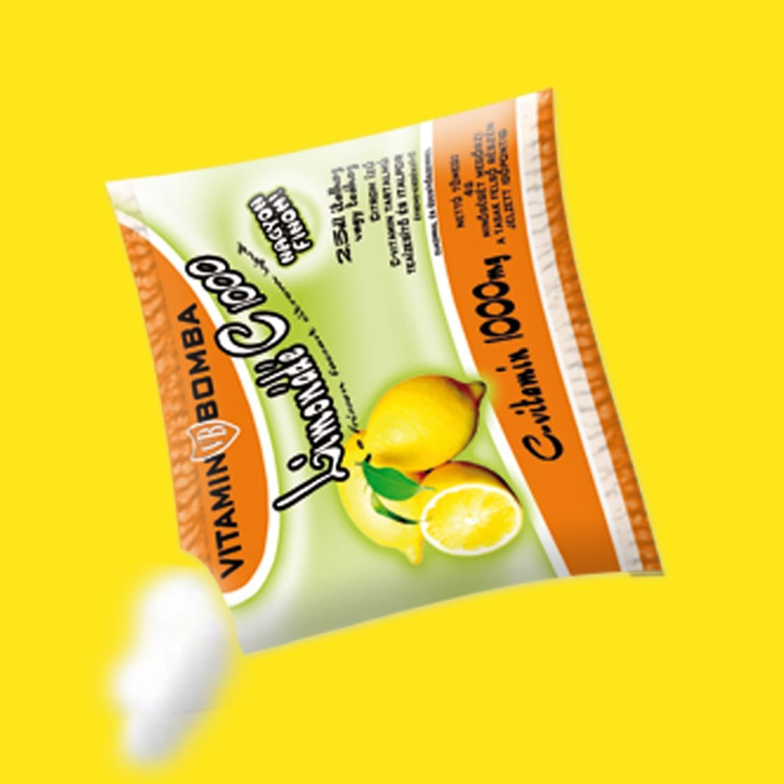 Vitamin Bomb C1000 instant lemon flavored drink powder