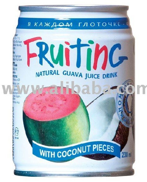 Fruiting Natural Canned Guava Drink With Coconut Piece
