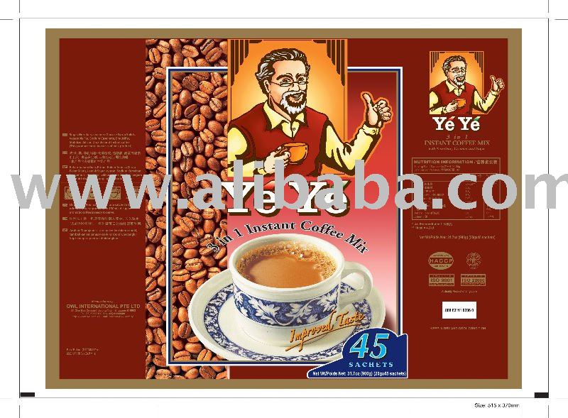 Ye Ye 3 in 1 instant coffee mix