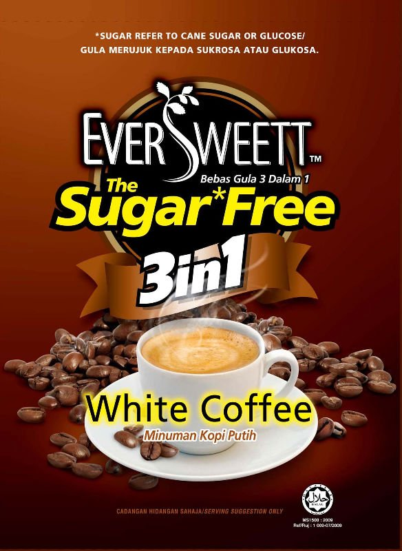 Eversweett Sugar Free 3-in-1 Instant Coffee