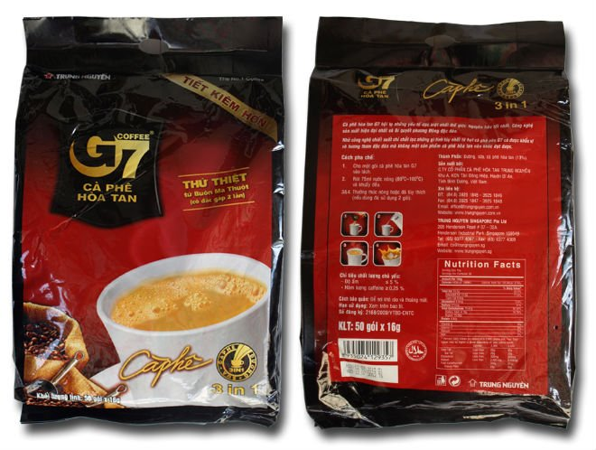 G7 coffee nutrition facts