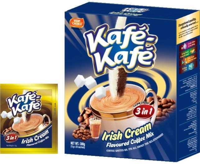 Kafe-Kafe 3in1 Irish Cream Instant Coffee