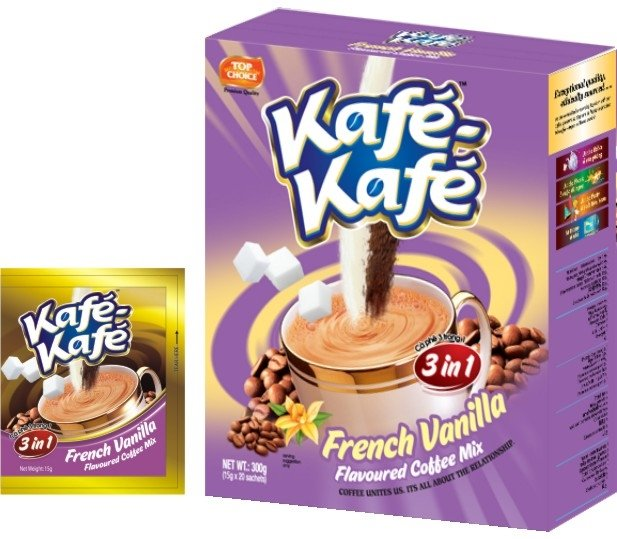 Kafe-Kafe 3in1 French Vanilla  Instant Coffee