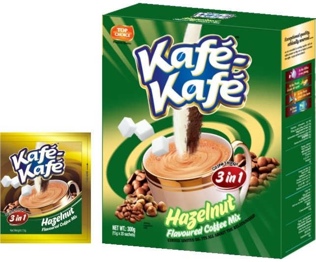 Kafe-Kafe 3in1 Hazelnut Instant Coffee