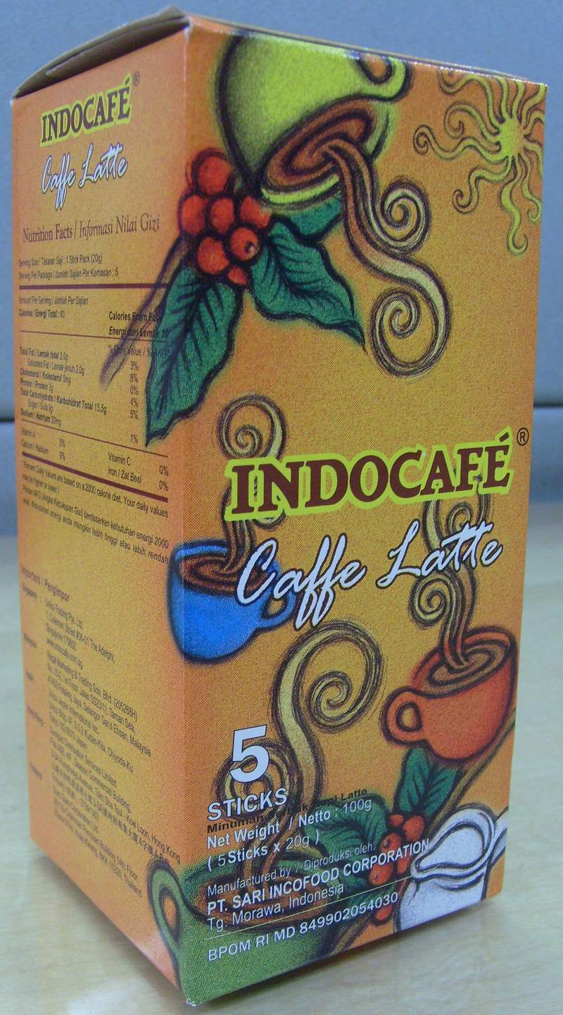 Indocafe Caffe Latte Instant Coffee