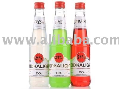 Vodkalight 21 carbonated light vodka drink products for Light cocktails with vodka
