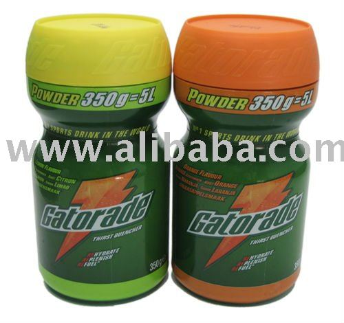 Gatorade drinking powder, 350gramms netto, Orange or Lemon taste
