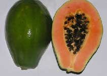 Organic solo papayas