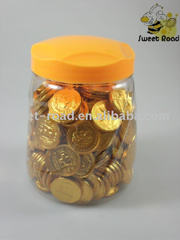 Chocolate Coin With Jar Products China Chocolate Coin With