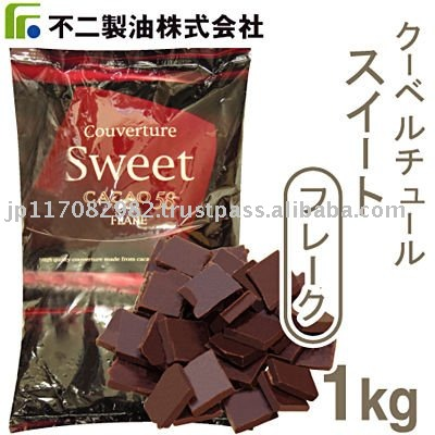 chocolate Couverture sweet flake 1kg (FUJI OIL Co.,Ltd)