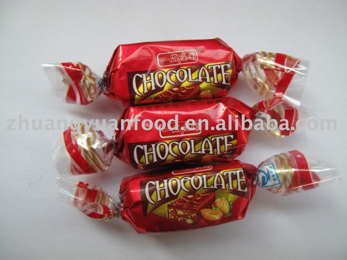 Chocolate and crunchy candy