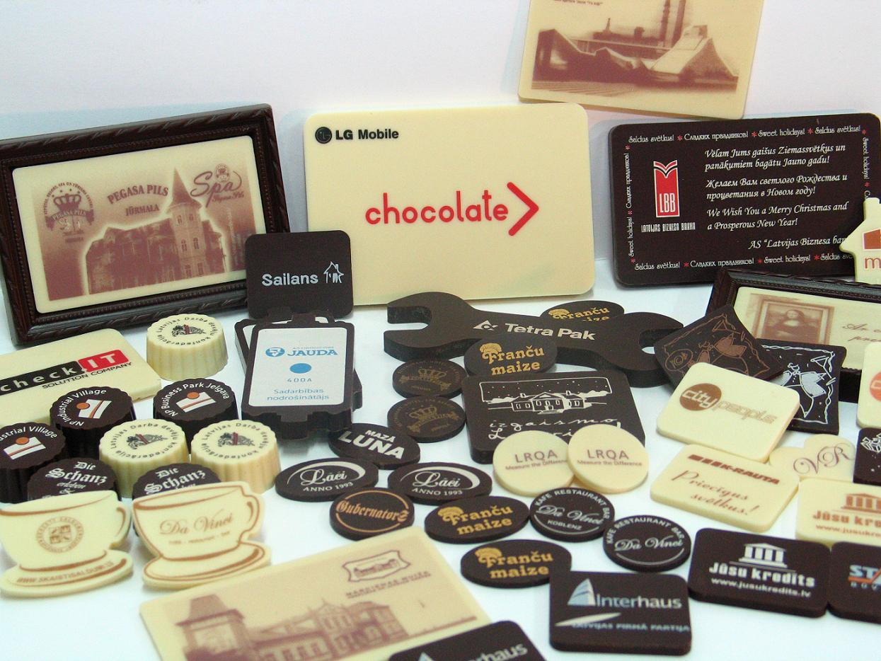 Chocolate with printing
